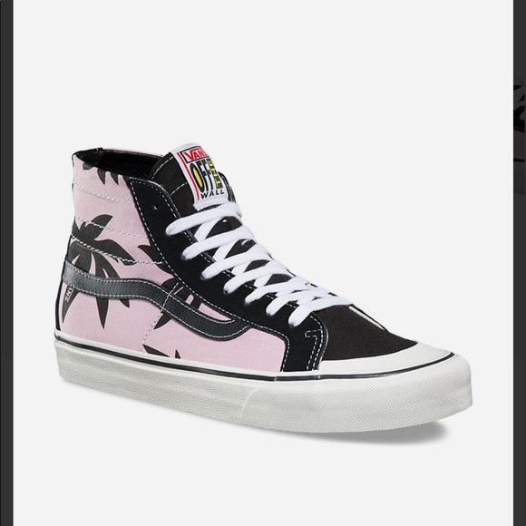 591bdd9d9d VANS SK8-HI 138 DECON SF (summer leaf) PINK BLACK